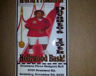 Hollywood Ticket Invitations