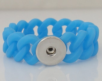 Small Blue Stretch Silicone Bracelet