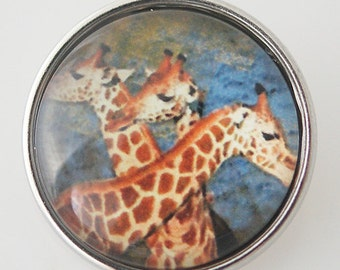 KB4349 Art Glass Print Chunk - Giraffes