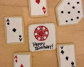 Casino Birthday Cookies