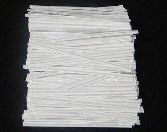 Free Ship! White Twist Ties - Assorted Quantities! TP-5