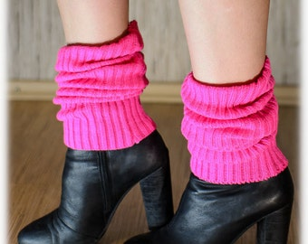 STORE CLOSING SALE Women Knitted Leg Warmers Boot Toppers Neon Colors