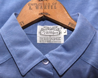 The Villager Vintage 70s Periwinkle Polo Shirt