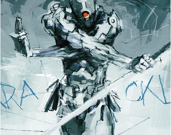 22x29 Print - Ashley Wood x Metal Gear Solid Gray Fox Poster