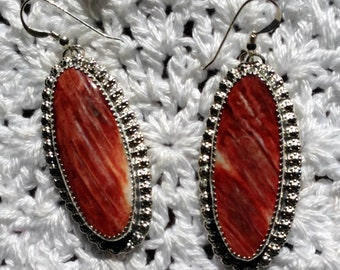 Orange Spiny Oyster Earrings