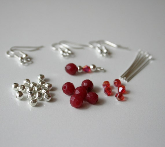 make your own gemstone and swarovski crystal earrings craft