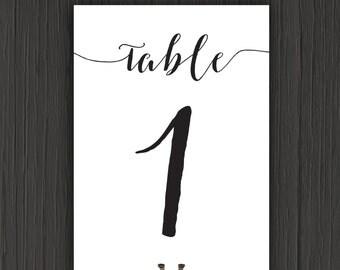 Table Numbers-Wedding Table Numbers-Printable Wedding Table Numbers-Table Number Template-DIY Table Numbers-Instant Download