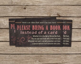 Book instead of card insert, Book for Baby, Bring a Book, Baby Girl Shower, Baby Shower, Chalkboard, Pink, Purple, Matching, Story Book,