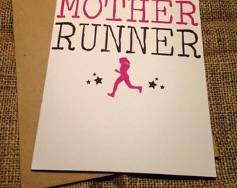 Birthday Card - One bad mother runner - Running -  Blunt Novelty Funny Rude JS03
