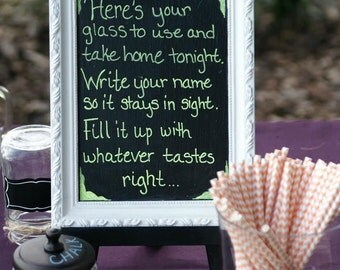Chalkboards, small chalkboards, memo board, chalkboard with stand, kitchen decor, photo prop chalkboard, wedding decor, framed chalkboard