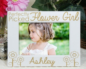 Flower Girl Picture Frame, Gift, Personalized