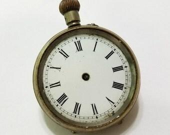 Antique Pocket Watch, Vintage, Watch, Supply, Pendant, Gilt, Repair, Steampunk, Supplies; not working