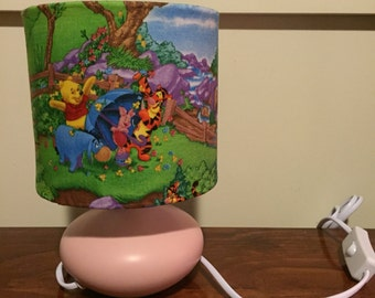 Pooh Bear inspired bedside lamp