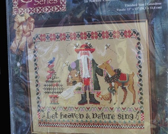 JanLynn Let Heaven & Nature Sing Counted Cross Stitch Kit Floss Ribbon Missing