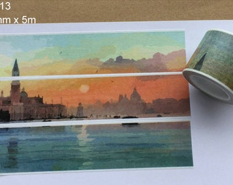Sunset Washi Tape -- Japanese Washi Tape -Deco tape-- 30mm x5M