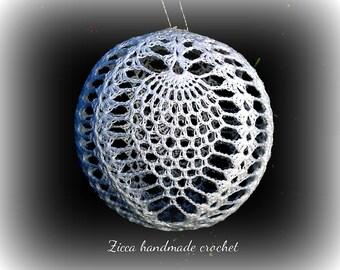 Crochet christmas pineapple ball ornament pdf pattern+ symbol diagram