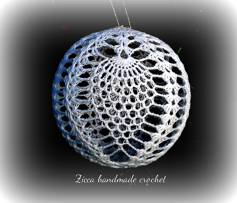 Crochet christmas pineapple ball ornament pdf pattern symbol