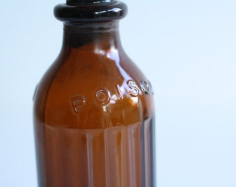 Antique Poison Amber bottle