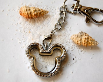Mickey Floating Charm Key Chain