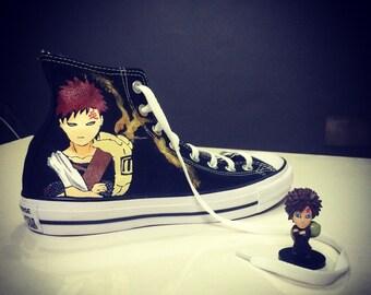 Naruto Gaara Hand Painted Converse Shoes