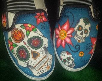 Candy Skull Custom Shoes