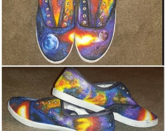 Space Galaxy Custom Shoes