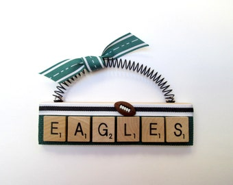 EAGLES Football Scrabble Tile Ornament