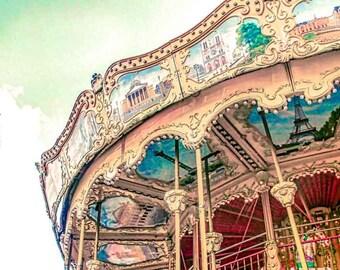 Paris Photography - Fine Art Photography - Paris Architecture - French Home Decor - Eiffel Tower - Carrousel - Romantic Art