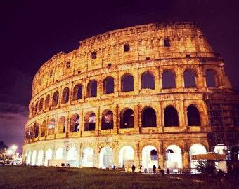 Italy Photography - Fine Art Photography - Italy Decor - Italy - Rome - Fine Art - Architecture - Rainy Night - Print - Home Decor