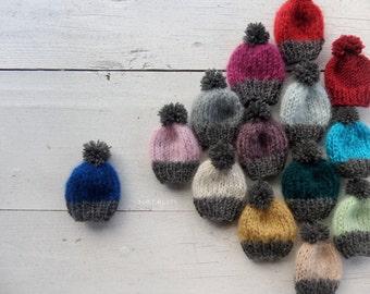 sweet knitting brooch-little hat-Accessory-Amigurumi- boho style-crochet brooch-winter holidays gift-Christmas -beads pin corsage-present