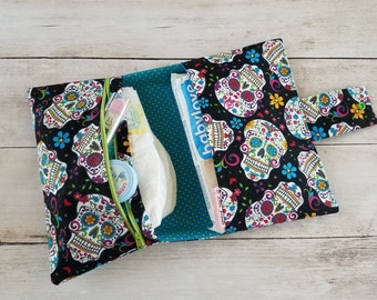 Catrina Diaper Bag | Compact Diaper Bag | Diaper Clutch | Small Diaper Bag | Nappy Bag | Stylish Diaper Bag | Diaper Wipes Bag