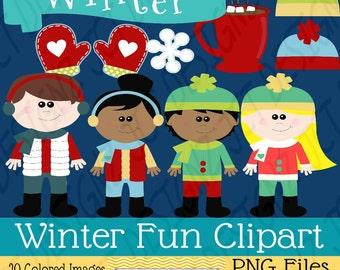 Winter Fun Clipart: Winter Fun Clip Art, Perfect for January!