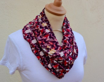 Sood geometric printed lola red and pink