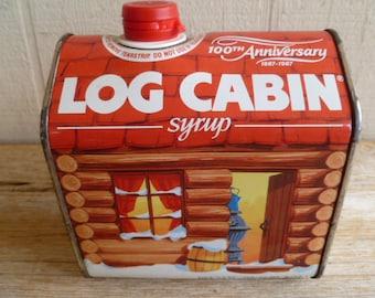 Log Cabin Syrup Anniversary Tin