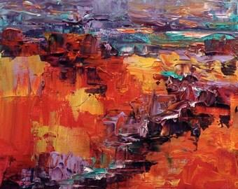 Landscape Painting, Modern Painting  STUDIO SALE! Abstract Painting, Original Painting, Abstract Art, River Painting Modern Painting 12x12