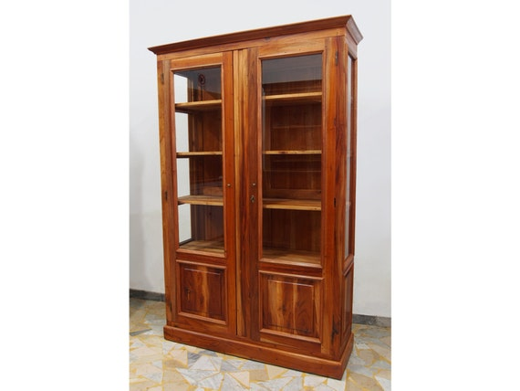 Solid Wood Bookcases: Bookcase In Mahogany Solid Wood