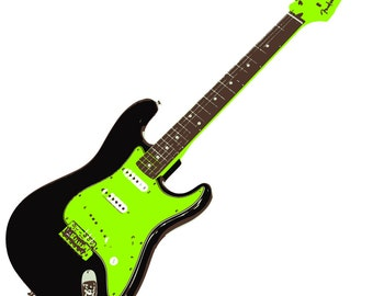 Black 1960 Stratocaster - Custom Printed T-Shirt