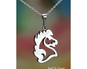 "Sterling Silver Majestic Horse Head Necklace 16-24"" or Pendant Only"