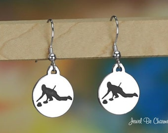 Sterling Silver Curling Earrings Pierced Fishhook Earwires Solid .925
