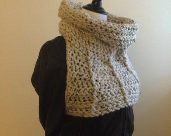 Crochet Pattern / Huntress Armor Cowl Vest - Around the Back Vest