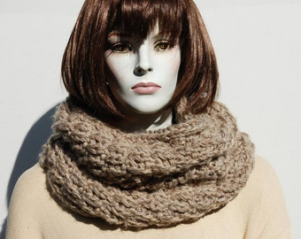 Knitted Cowl-Chunky Cowl-Circle Scarf-Chunky Cowl Snood-Oversized Loop Scarf-Neckwarmer-Loop Scarf-Chunky Knit Cowl-Chunky Knit Scarf-Cowl