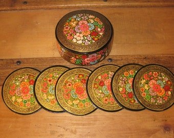 Hand Painted Floral Coster Set*******.