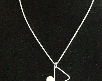 """Assymetrical sterling silver """"bubbles"""" necklace"""