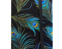 Kindle Paperwhite Cover, Kindle Cover Hardcover, Kindle Fire 8 Hard Case, Kindle Fire HD 6 Book Style Cover, Peacock Feathers
