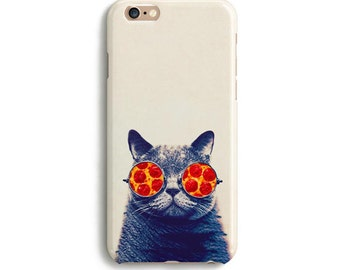 Pizza cat glasses - iPhone 7 case, Samsung galaxy S7 case iPhone 6 iphone 7 plus samsung galaxy ...