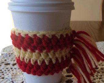 Gryffindor scarf coffee cozy .
