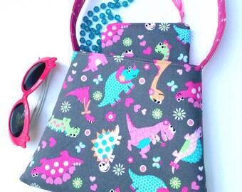 Toddler Girl Purse Dinosaurs/Girls Purse Set/Coin Purse Set/Little Girls Purse/Girls Accessories/Cute Dinosaurs/The Bell Purse