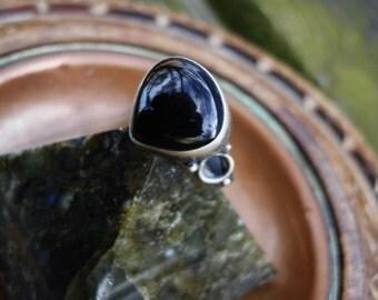 Black ring, black onyx ring,womens black ring, size 6 ring, black onyx rings,gothic ring,925 silver ring,oxidized ring,black rings,goth ring