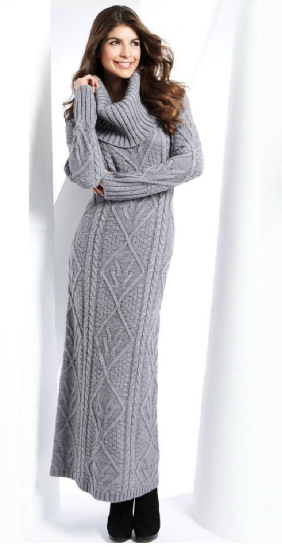 Knitting Dresses Women : Hand knit women dress sweater coat aran jacket made to