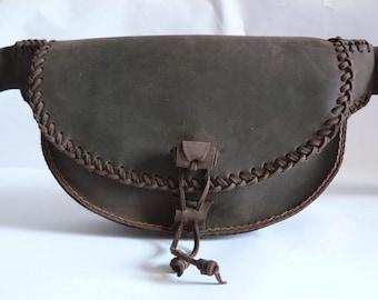 Handmade leather fanny